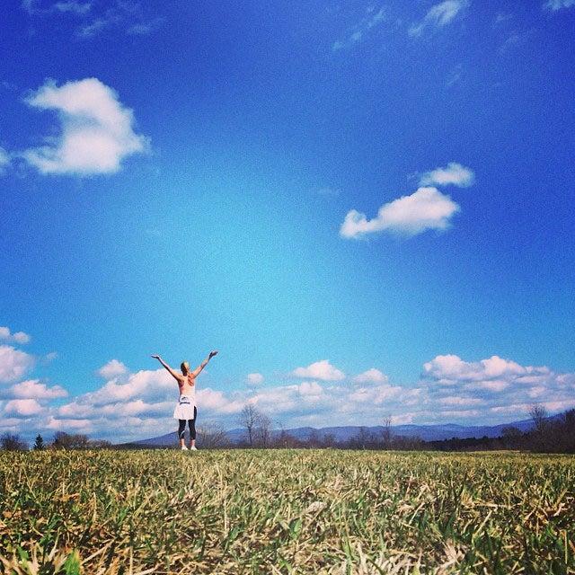 @sarznoble: Beautiful Virginia spring running.