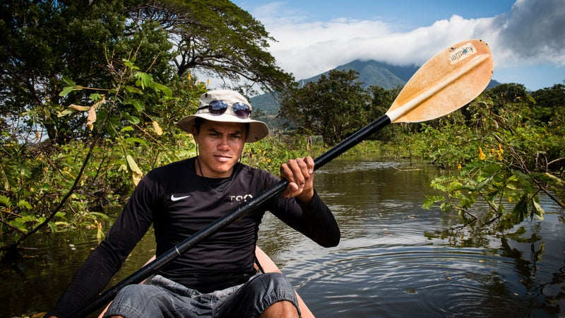 Eco-guide Willy Barrios on Ometepe Island.