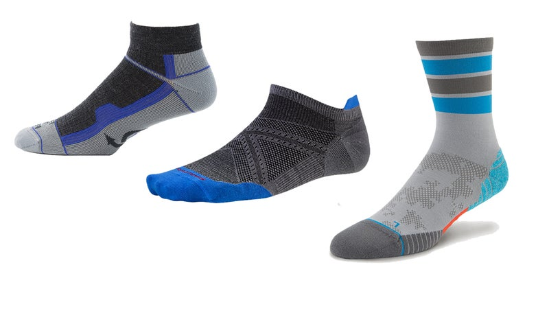 Left to right: Farm to Feet, SmartWool, Stance.