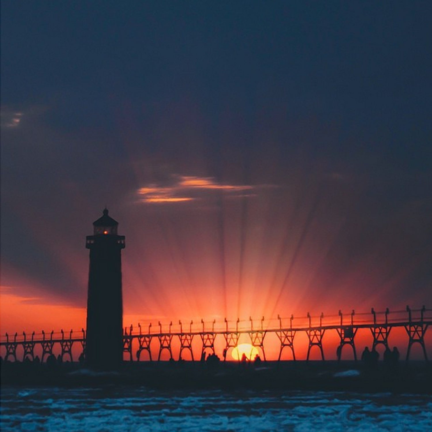 {Sunset Photo of the Day} Sunset is at 8:43pm - Check out this stunner by @seoung ❤️ #visitgrandhaven