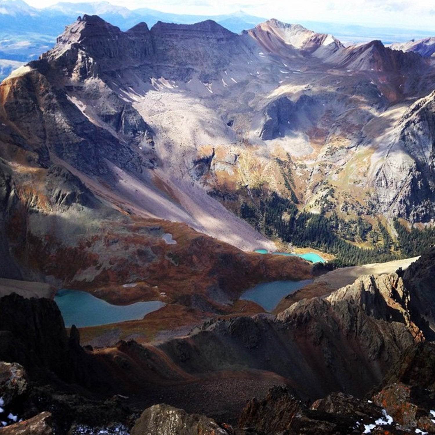 Breathtaking view from one of our local 14er's, Mt. Sneffels #BestTowns2015 #Telluride #Colorado