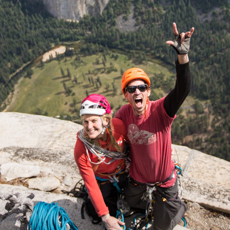 Summit! Adrian and I on top of El Capitan.  Completely wrecked but happy and excited to be off the wall.