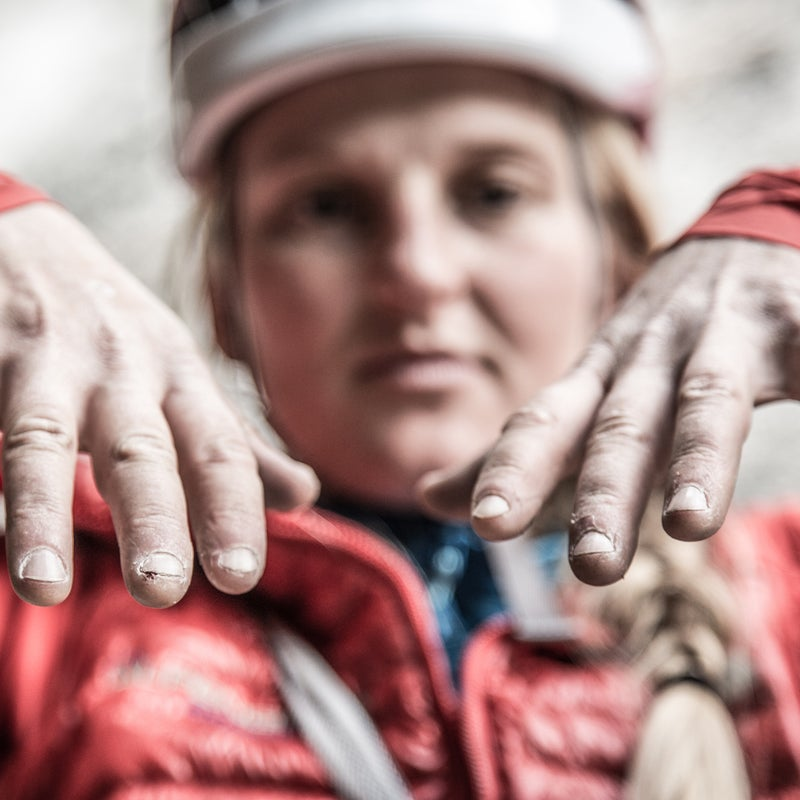 Hands take a beating on the wall. Managing my skin plus dealing with split tips and cuts was a constant battle. Bloody fingers are not only painful but greatly reduce friction against the rock, making it virtually impossible to climb at one's limit.