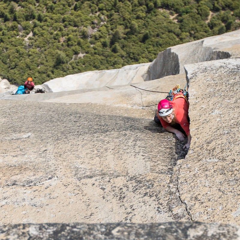 The final pitch on Golden Gate. So close, but this route never let up. Every single pitch required attention and respect and the final 5.11 pitch was no exception.