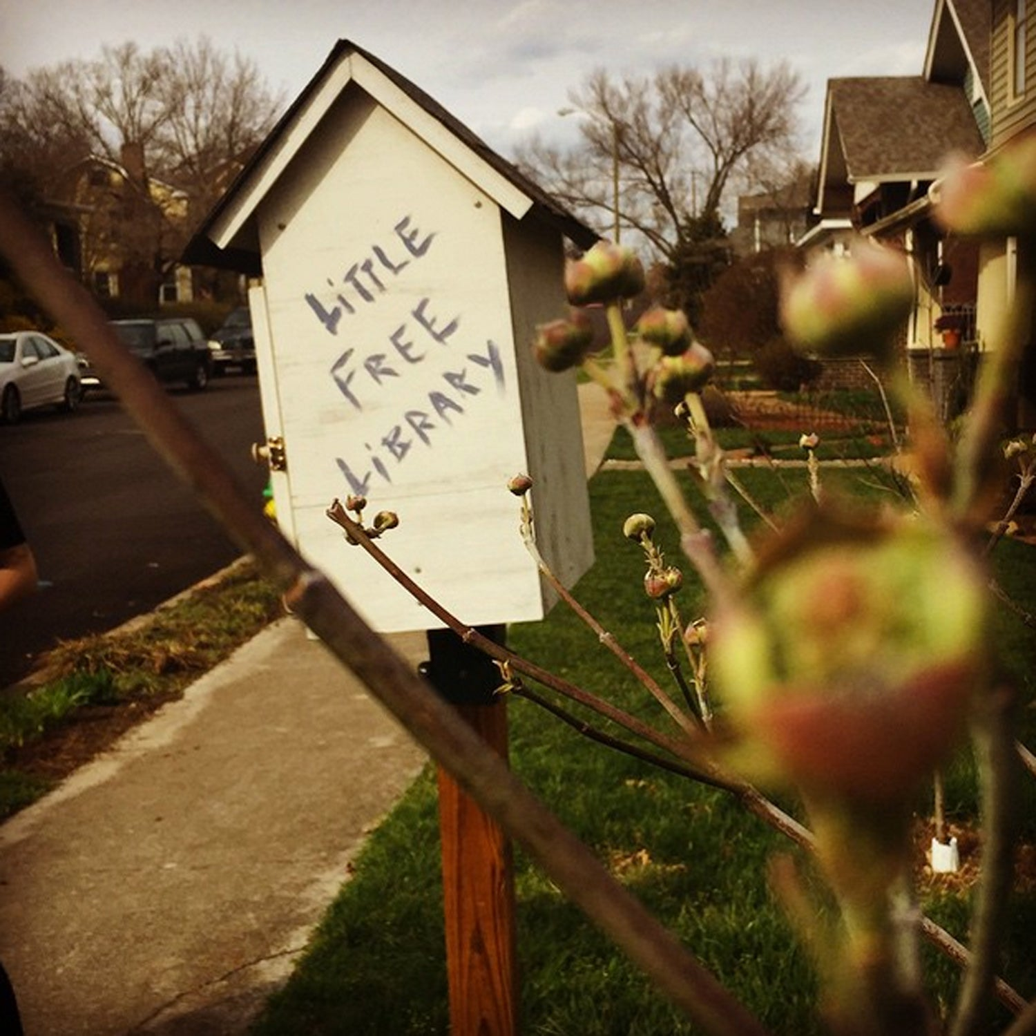 A wonderful surprise awaits you in some Knoxville neighborhoods! The Little Free Library has all sorts of books for you to borrow. This one is in Fourth & Gill. #besttowns2015 #literacy #tiny