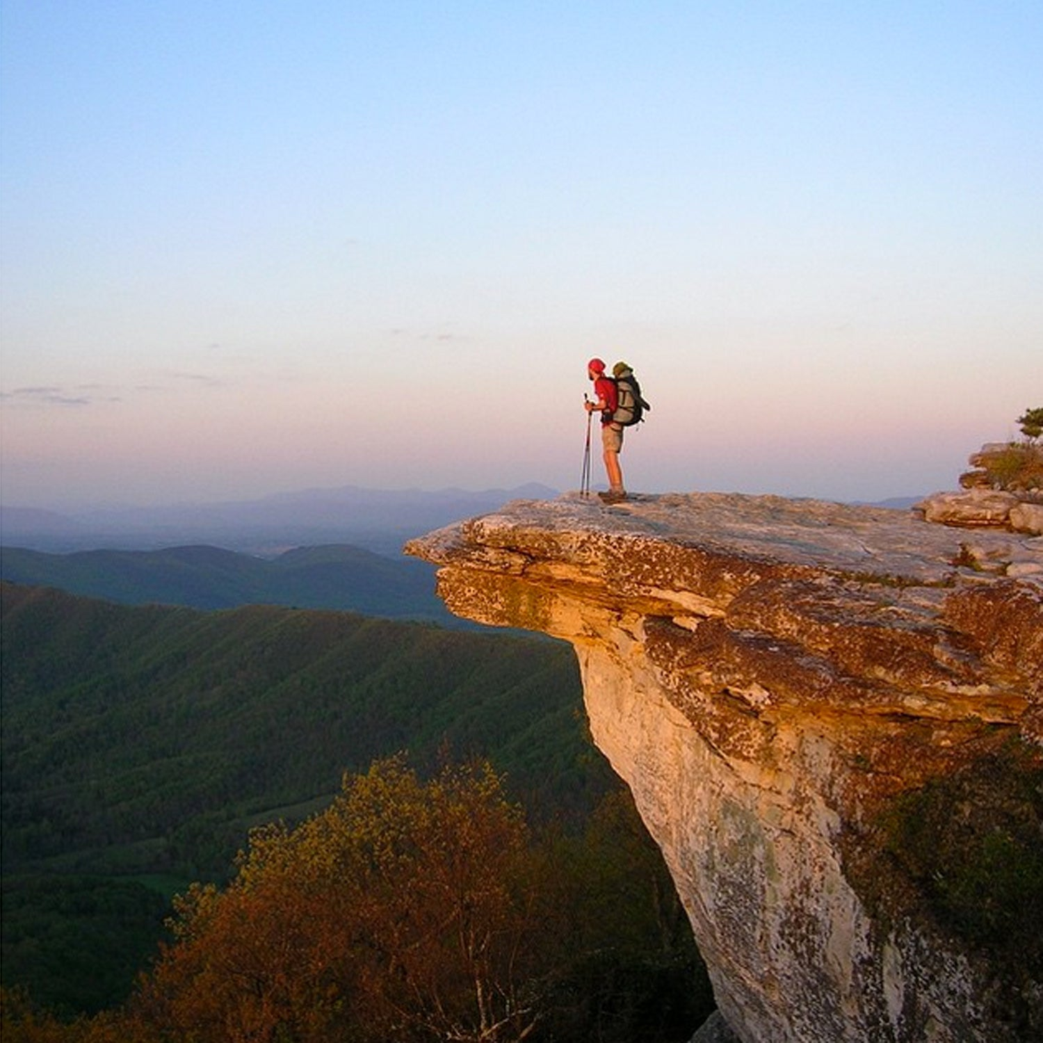 """Want to see Roanoke, VA on Outside Magazine's Best Town list? Like this photo then post your own using #BestTowns2015 and be sure to include """"Roanoke, VA"""" in your description. This is McAfee Knob, the most photographed point along the Appalachian Trail. #roanokeoutside #blueridgemoments"""
