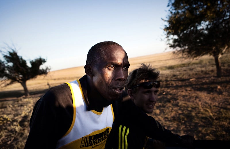 Andrew Musuva (left) led the chase since he was the only runner who had ever persistence hunted.