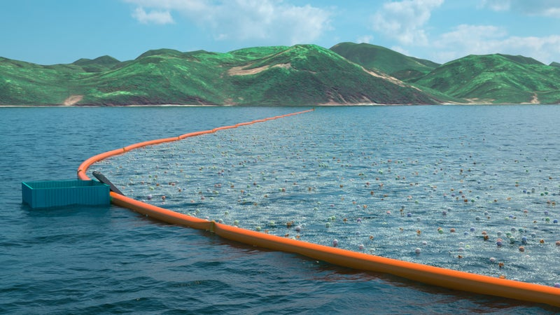 Concept art for the Ocean Cleanup.