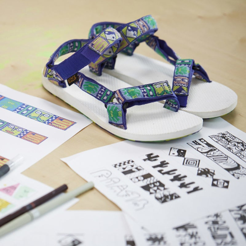 Bright art (and classic comfort) for your trekkin' feet. Read more.