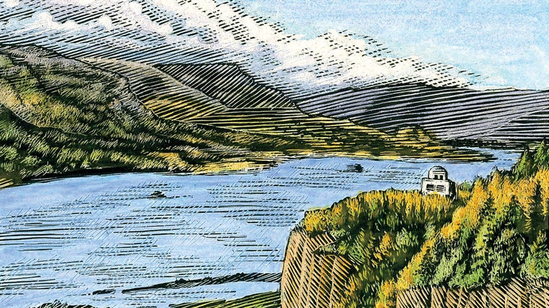 The Columbia River near Portland, which is home to industry giants like Adidas and Nike.
