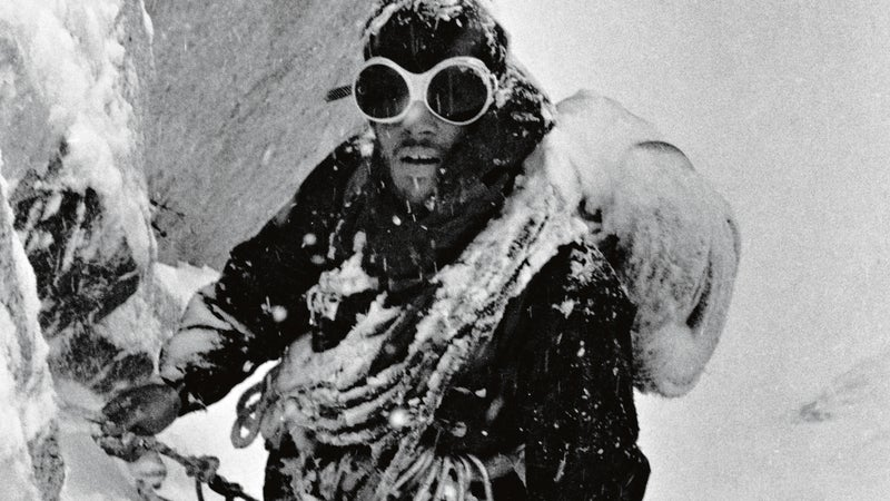 The North Face founder Doug Tompkins on the first ascent of Chile's Ruta de los Californianos in 1968. Cerro Fitz Roy, Chile.