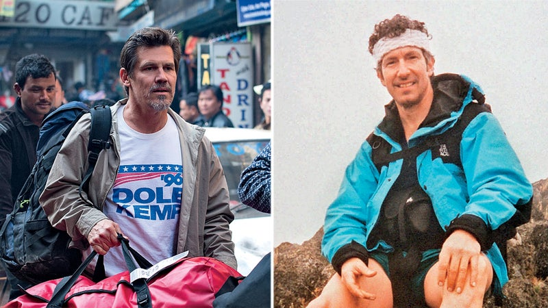 Josh Brolin, left, plays client Beck Weathers, right.