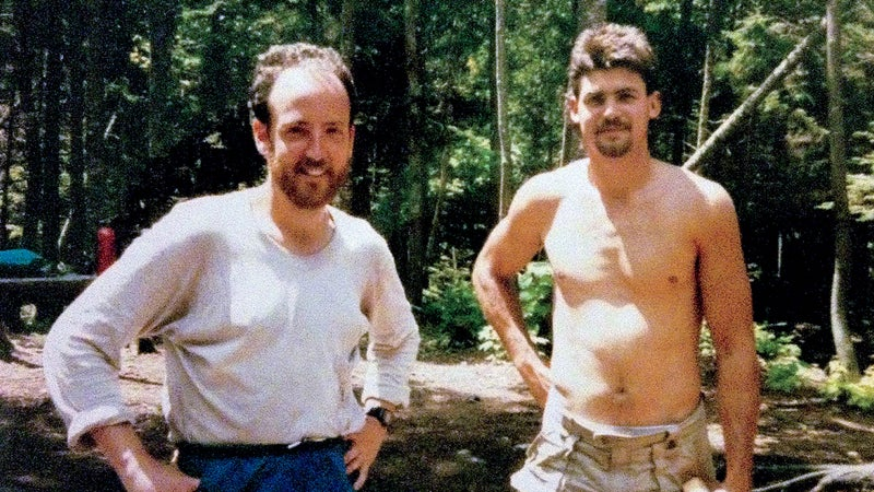 """The author (left) with Greg """"Animal"""" Hammer."""
