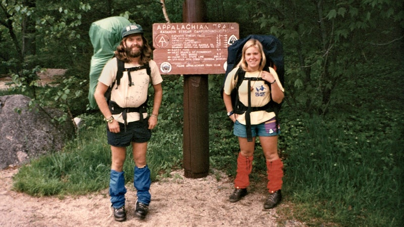 Geoff and Molly at Mount Katahdin in Maine.