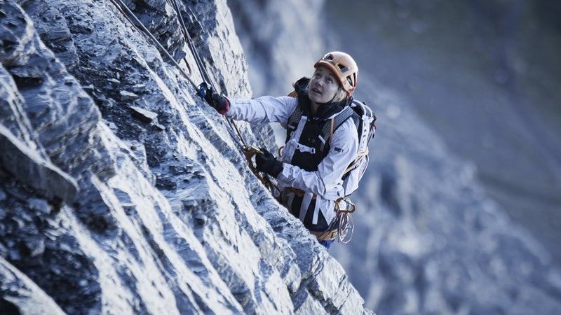 Sasha DiGiulian is the first woman and the first American to climb Magic Mushroom on the Eiger.
