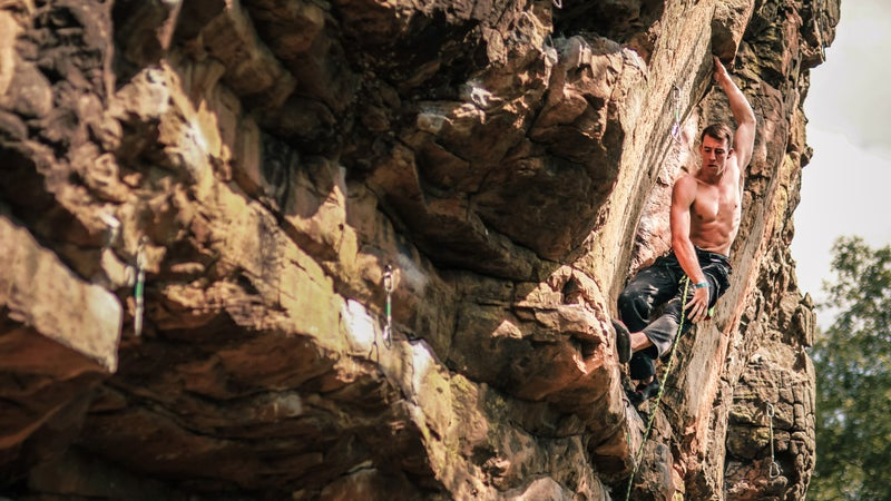 A climber at 24 Hours of Horseshoe Hell.