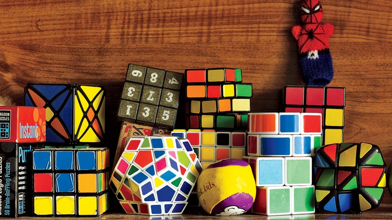 Lucky's collection of puzzle cubes