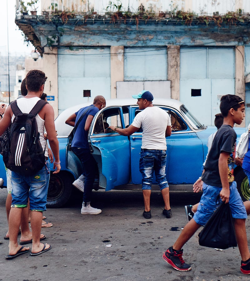 The streets of Old Havana on a late afternoon.