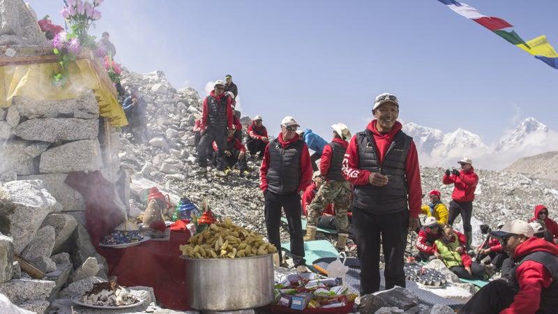 Puja at Base Camp.