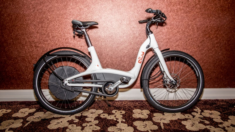 The Elby has a range of 90 miles, and built-in phone charging capacity.