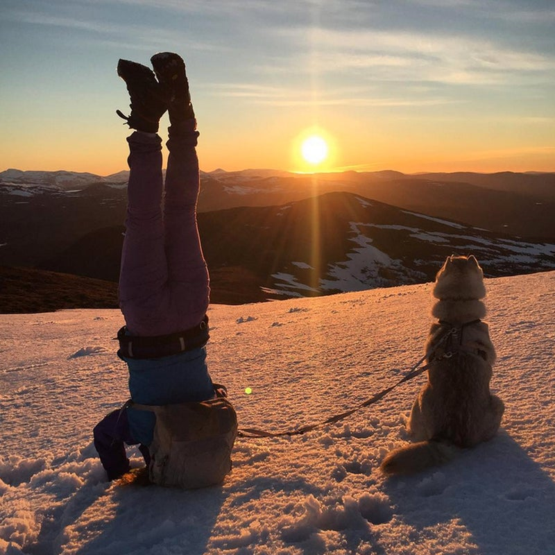 @yogalifenutrition: My #bff Akasha and me on the top of the mountain for the Midnight Sun this midsummer.