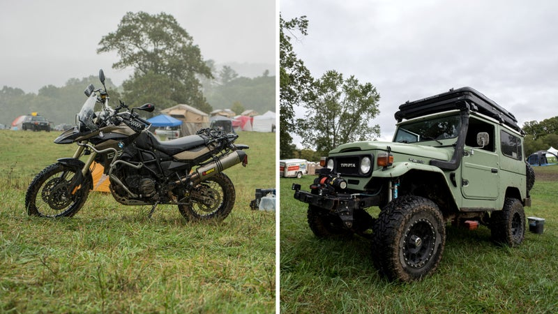 Indestructible vehicles of all kinds—jeeps, trucks, vans, and bikes—made an appearance at this year's Overland Expo.