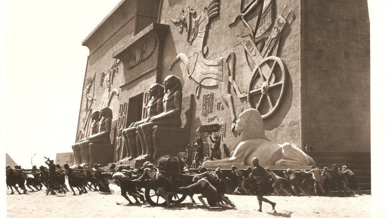 The City of the Pharaoh during the filming of Cecil B. DeMille's 'The Ten Commandments'.