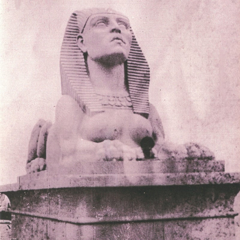 The sphinx on set in 1923.