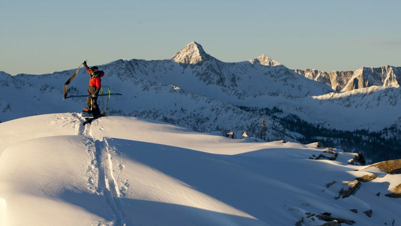 Angel Collinson in Utah's Wasatch Backcountry.