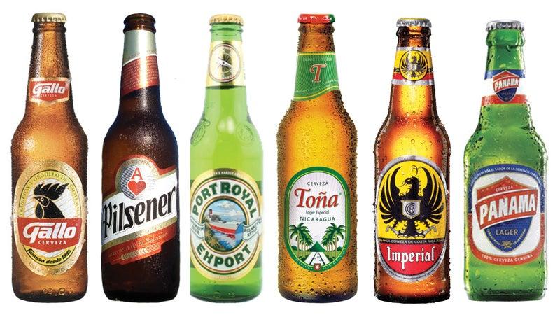 From left, the lagers of Guatemala, El Salvador, Honduras, Nicaragua, Costa Rica, and Panama.
