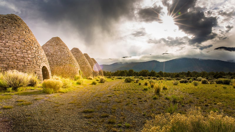 Some of the best-preserved charcoal ovens in the west, the Ward Charcoal Ovens, and nicely preserved by Nevada State Parks.