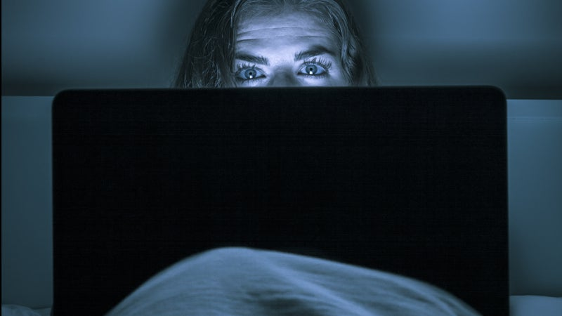 If you're on your computer until lights out, you are sabotaging your sleep quality.