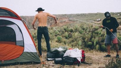 Bark sets up camp.