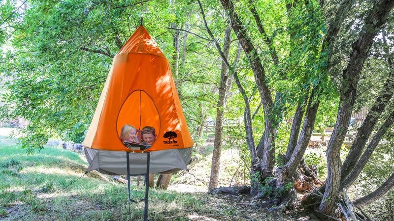 What do you get when you cross a tent with a hammock?