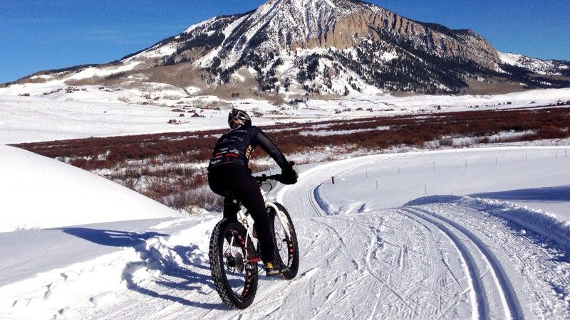 Snow Biking Crested Butte, Colorado
