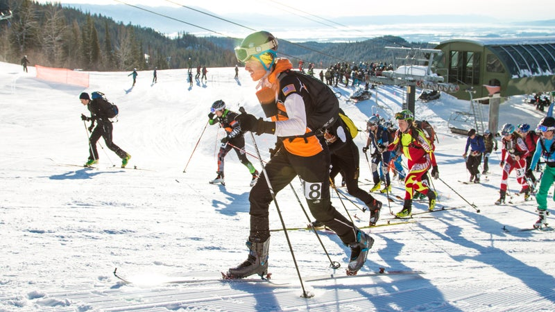 Ultrarunner and skimo racer Mike Foote at the Whitefish Whiteout.