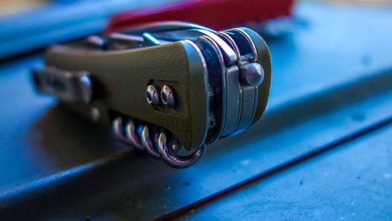 The Boker's carbide glass breaker doesn't fold, so it's always there, ready to use.