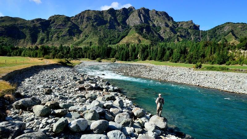 Fishing near Owen River Lodge.
