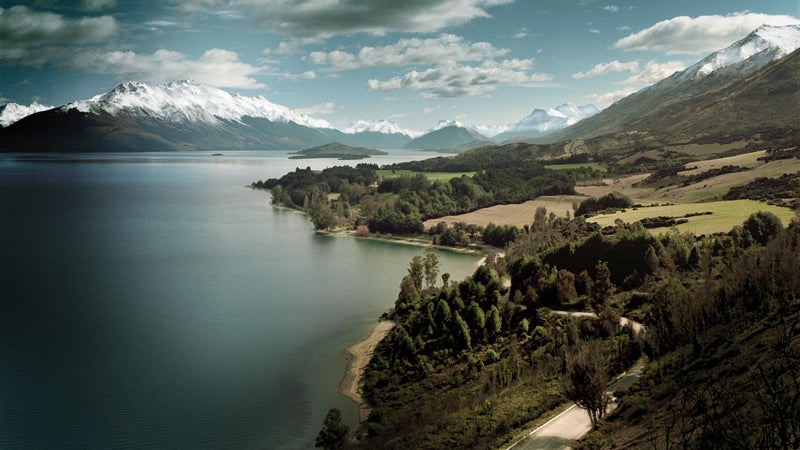 Lake Wakatipu and the Southern Alps outside Queenstown.