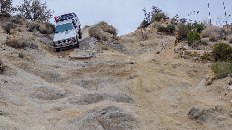 The brakes failed during this descent (oops!) in Anzo Borrego, but the 4Runner rode out the steep descent anyway.