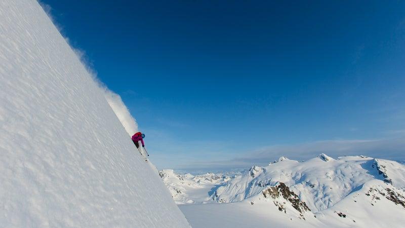 Collinson in Alaska's Neacola Mountains.