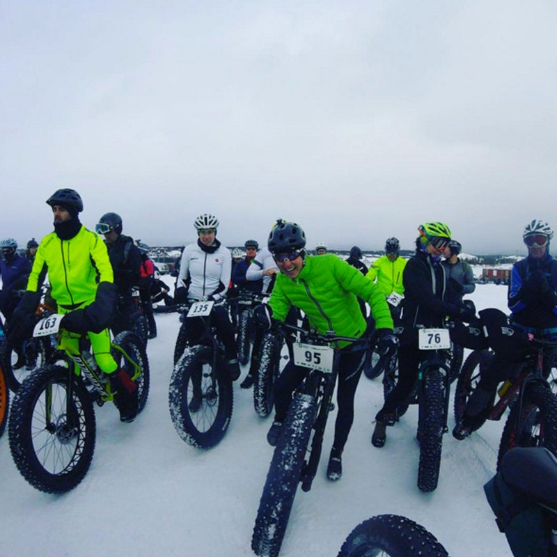 @cyclist_lawyer: Just got this rad photo from last night's race (was that seriously just last night?!?) Fat bike fun.