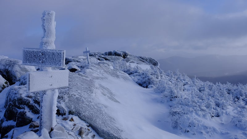 The summit of South Twin Mountain in the White Mountains.