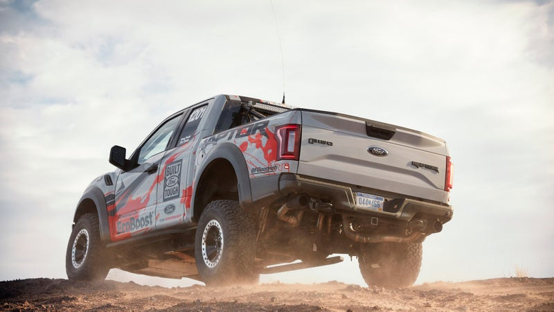 The 2017 Raptor rests on a uniquely-reinforced, fully-boxed frame that should be capable of huge off-road abuse.