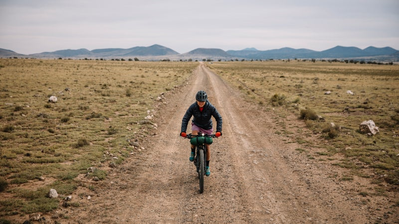 Lael riding part of the AZT north of Flagstaff