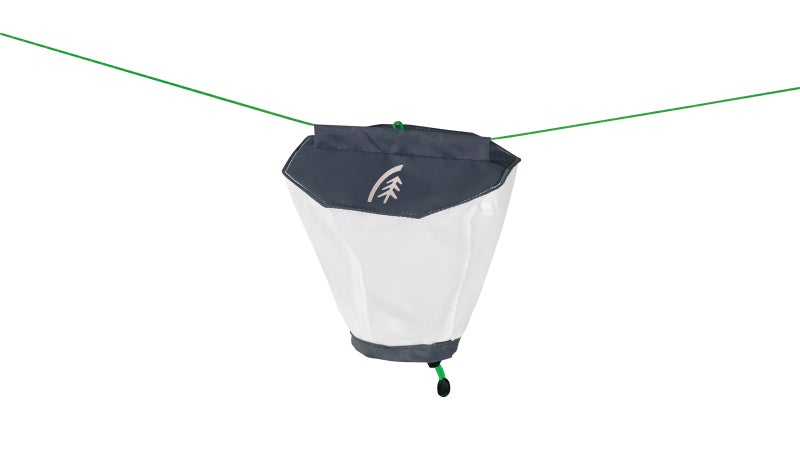 Yeah, the Sierra Designs Night Glow is just a white, nylon sack, but it's integrated well, and gets the job done for only a 20 gram weight penalty.