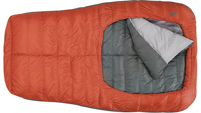 Innovative new products like this Sierra Designs Backcountry Bed Duo are bringing couple's camping out of the dark ages.