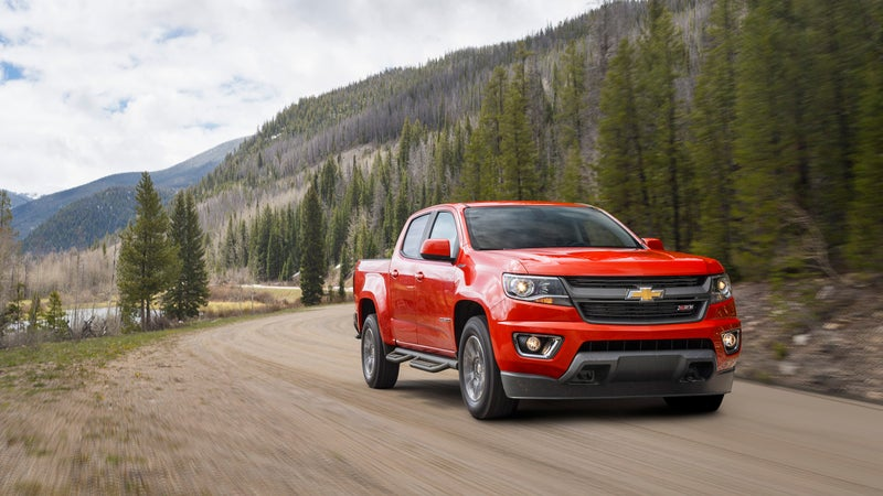 On the inside, the Colorado boasts a dashboard touchscreen and clean diesel engine.