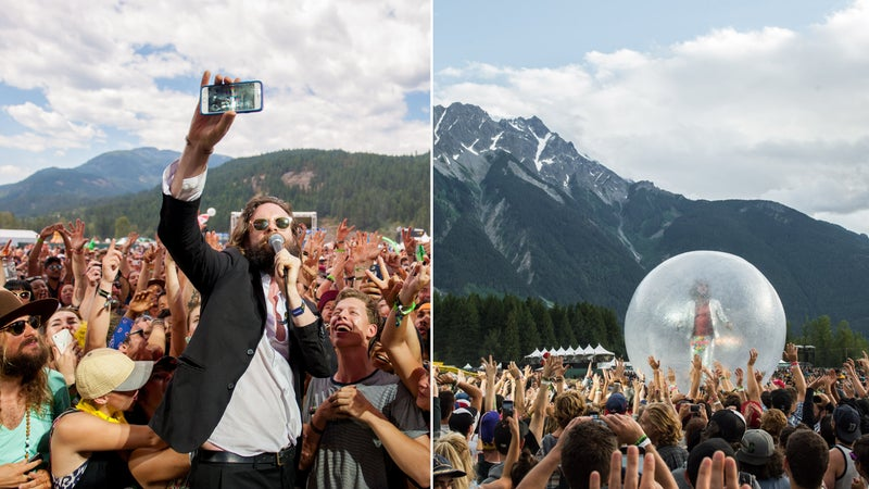 From left: Father John Misty at Pembyfest; The Flaming Lips at Pembyfest.