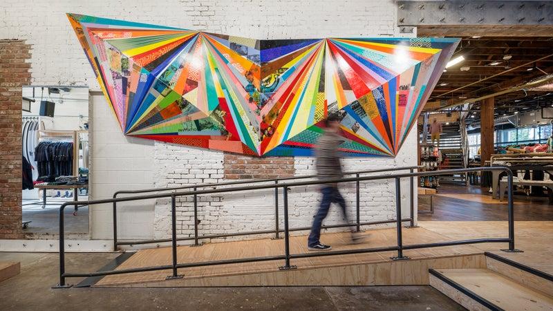 Art at Evo, Portland.